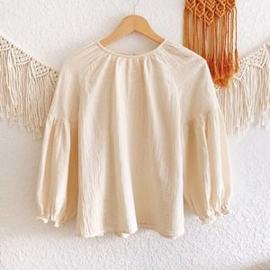 Universal Thread Embroidered Peasant Top